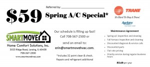 $59 Spring referral coupon one